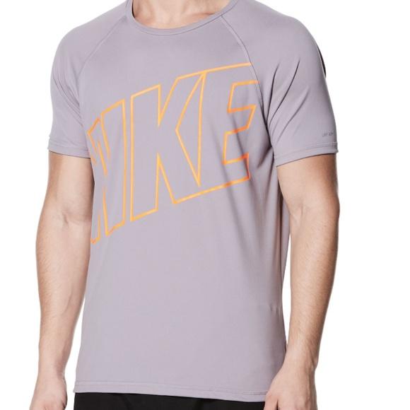 0b164cc45 Nike Shirts   Hydroguard Logo Men Gray Tees Short Sleeve   Poshmark
